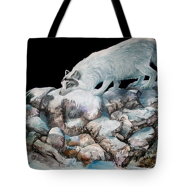 Tote Bag featuring the painting Arctic Encounter by Sherry Shipley