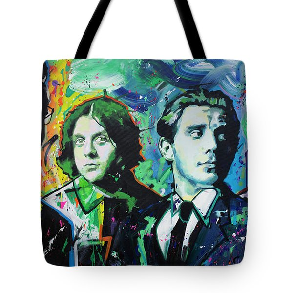 Tote Bag featuring the painting Arctic Monkeys by Richard Day