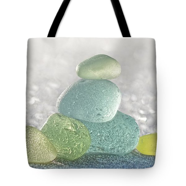Arctic Spring Sea Glass Tote Bag