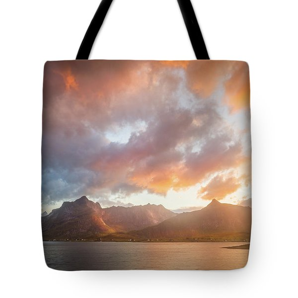 Tote Bag featuring the photograph Arctic Susnset by Maciej Markiewicz