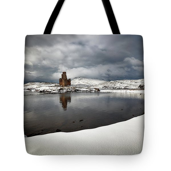 Ardvreck Castle In Winter Tote Bag