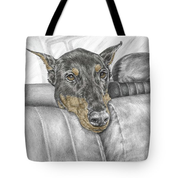 Are We There Yet - Doberman Pinscher Dog Print Color Tinted Tote Bag