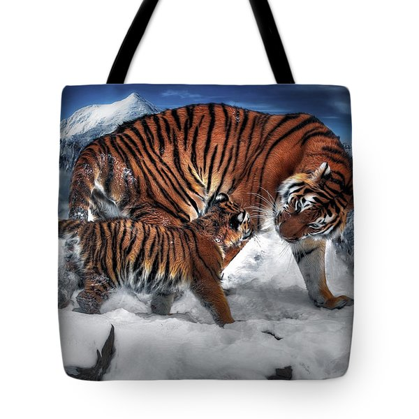 Tote Bag featuring the digital art Are We There Yet by Pennie McCracken