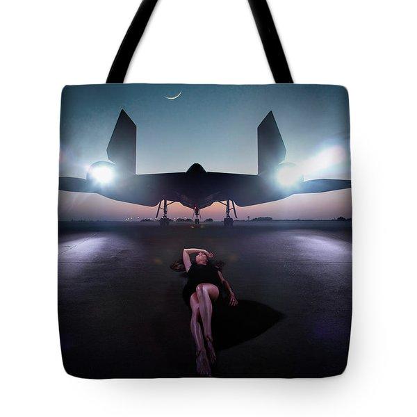 Area 71 Night Fire Tote Bag