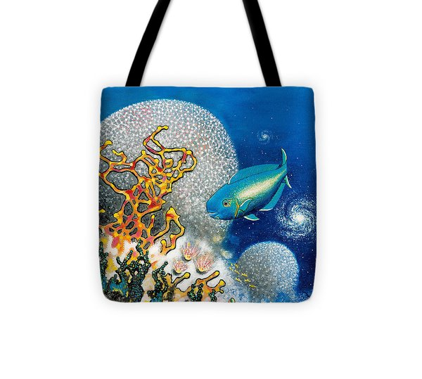 Areiti -the Little Wave Tote Bag by Lee Pantas