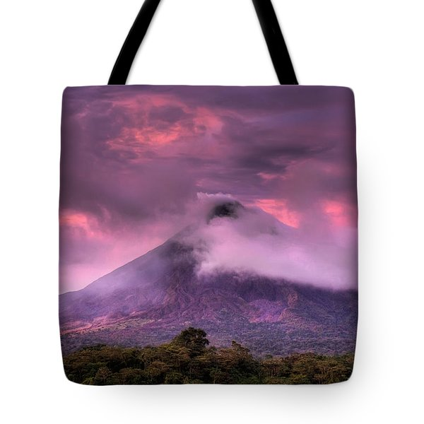Arenal Volcano Tote Bag by Dolly Sanchez