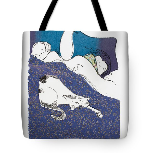 Aren't They Cute When They Are Sleeping Tote Bag by Leela Payne
