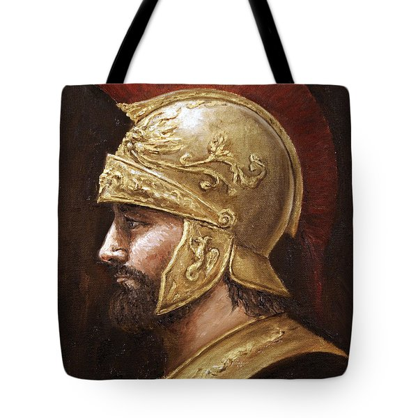 Tote Bag featuring the painting Ares by Arturas Slapsys