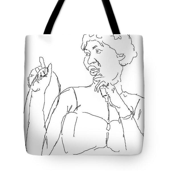 Aretha Tote Bag by Angela Murray