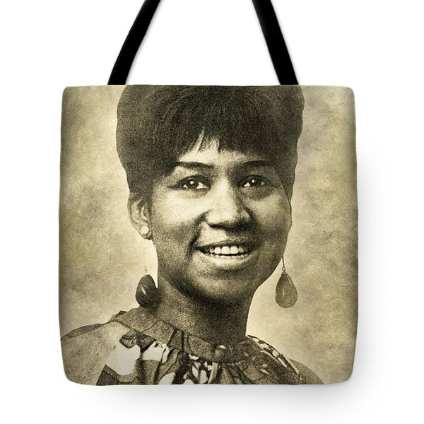 Aretha Franklin Queen Of Soul Tote Bag
