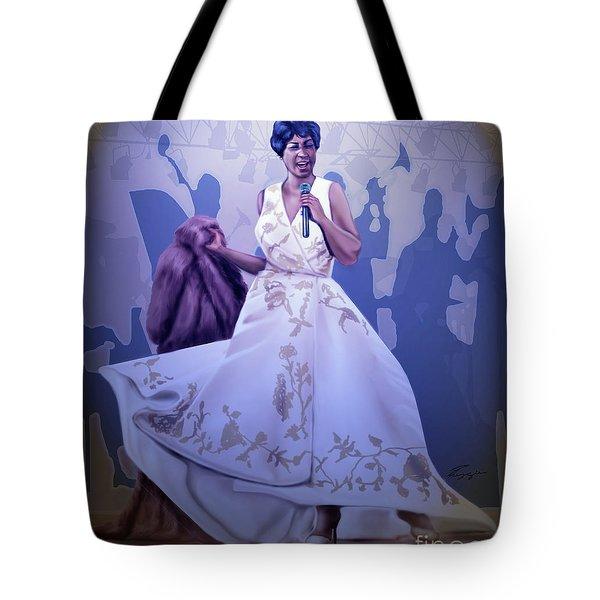 Aretha Franklin Rock Steady Tote Bag