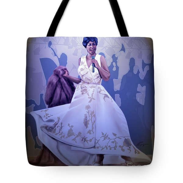 Aretha Franklin Rock Steady Tote Bag