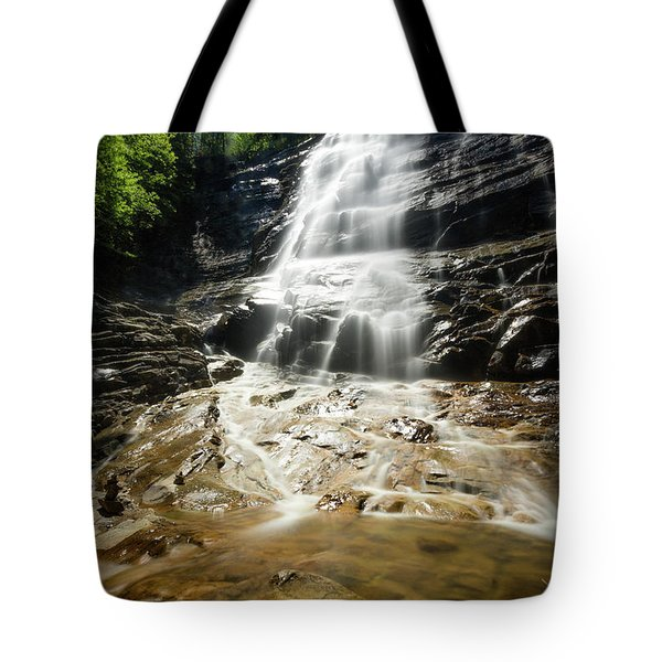 Tote Bag featuring the photograph Arethusa Falls by Robert Clifford
