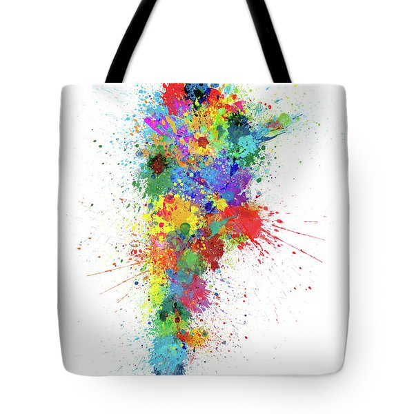 Argentina Paint Splashes Map Tote Bag