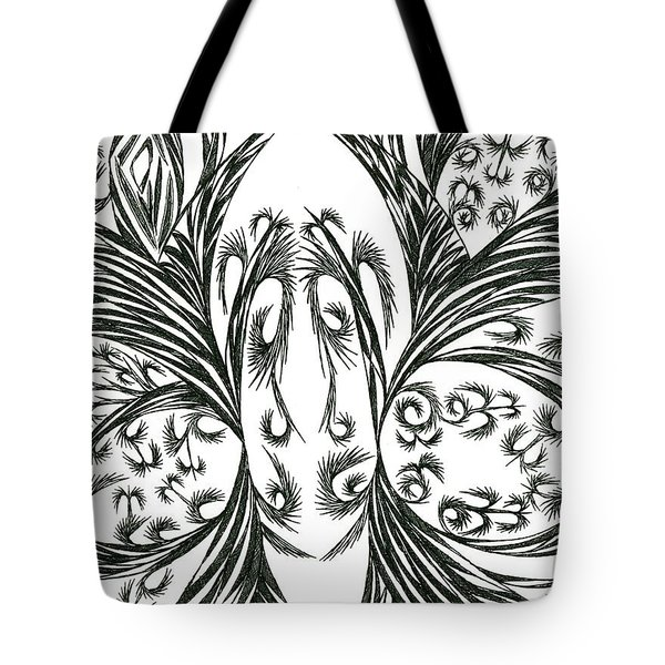 Tote Bag featuring the drawing Argos by Robert Nickologianis