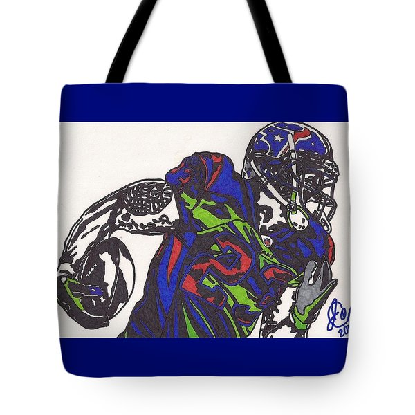 Arian Foster 1 Tote Bag by Jeremiah Colley