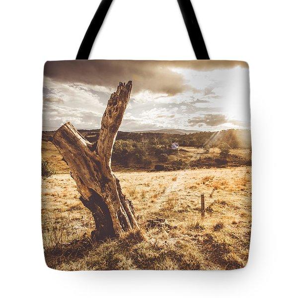 Arid Tasmania Bush Landscape Tote Bag