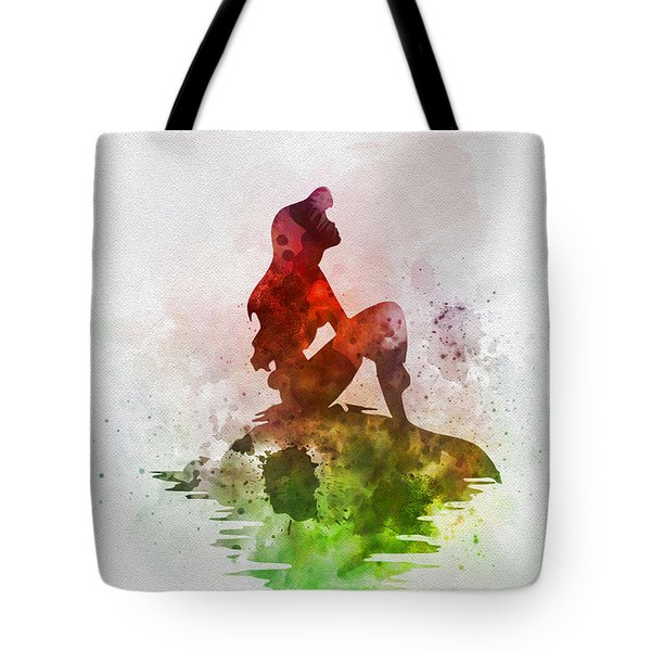 Ariel On The Rock Tote Bag