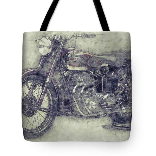 Ariel Square Four 1 - 1931 - Vintage Motorcycle Poster - Automotive Art Tote Bag