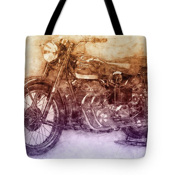 Ariel Square Four 2 - 1931 - Vintage Motorcycle Poster - Automotive Art Tote Bag