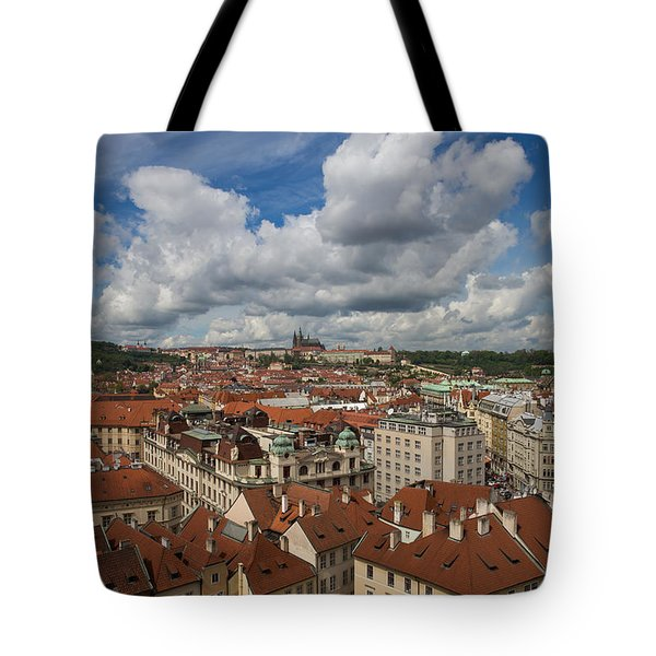 Ariel View Of Prague From Old City Hall Tote Bag
