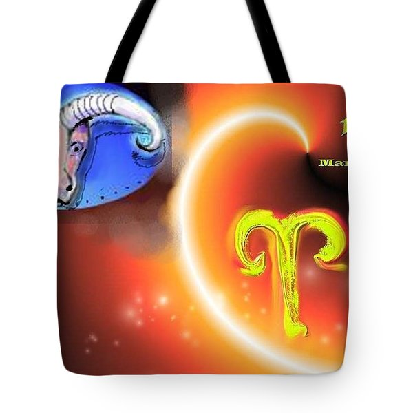 Tote Bag featuring the painting Aries by The Art of Alice Terrill