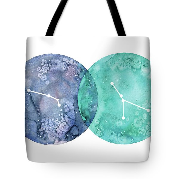 Aries And Cancer Tote Bag