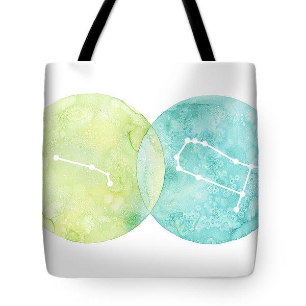 Aries And Gemini Tote Bag