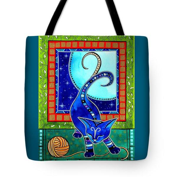 Aries Cat Zodiac Tote Bag