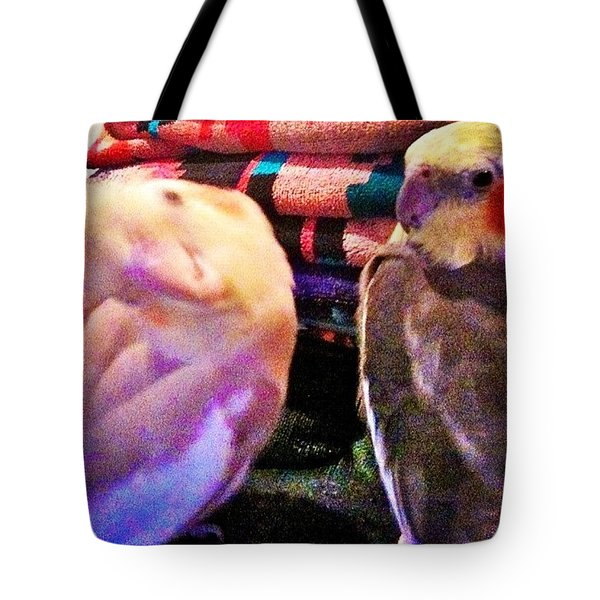 Aristotle And Simon Being Silly Tote Bag