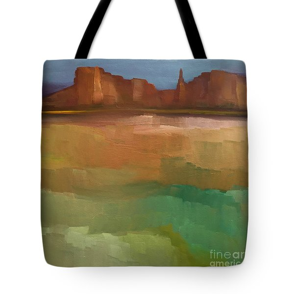 Tote Bag featuring the painting Arizona Calm by Michelle Abrams
