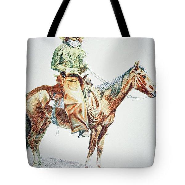 Arizona Cowboy, 1901 Tote Bag