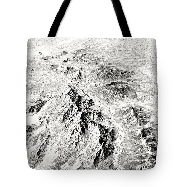 Arizona Desert In Black And White Tote Bag