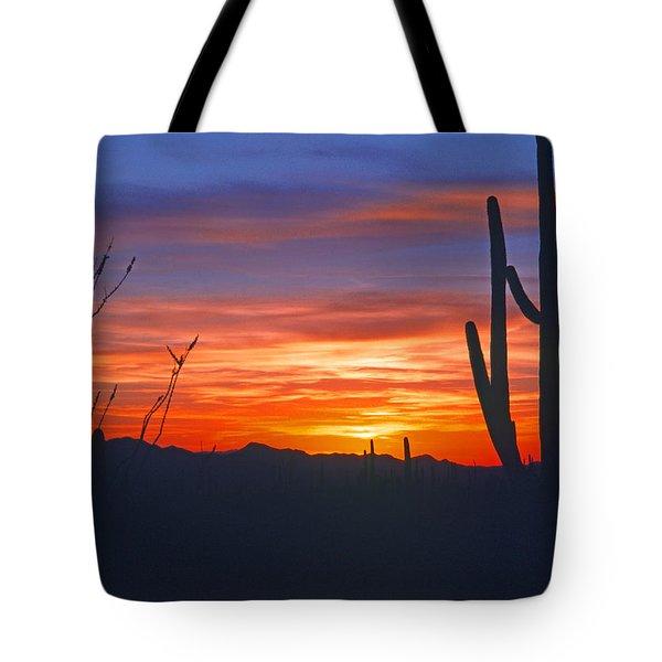Arizona Desert Sunset Tote Bag