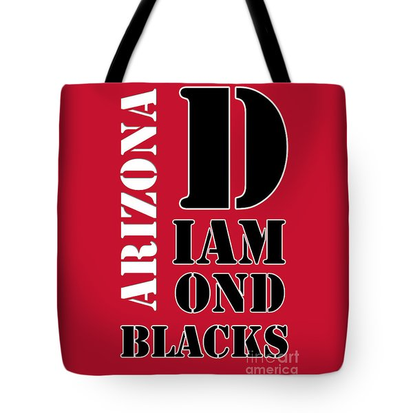 Arizona Diamondbacks Baseball Typography Red Tote Bag by Pablo Franchi
