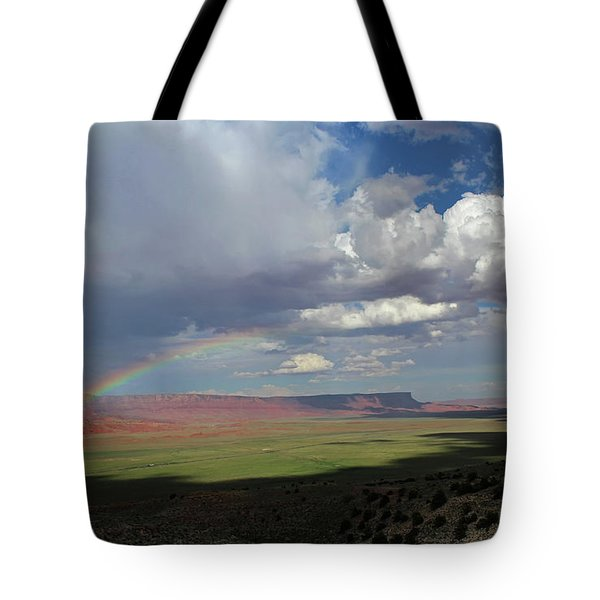 Arizona Double Rainbow Tote Bag