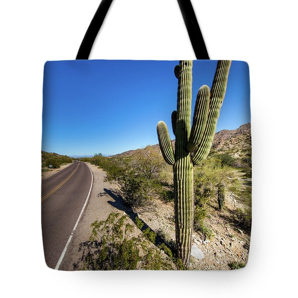 Tote Bag featuring the photograph Arizona Highway by Ed Cilley