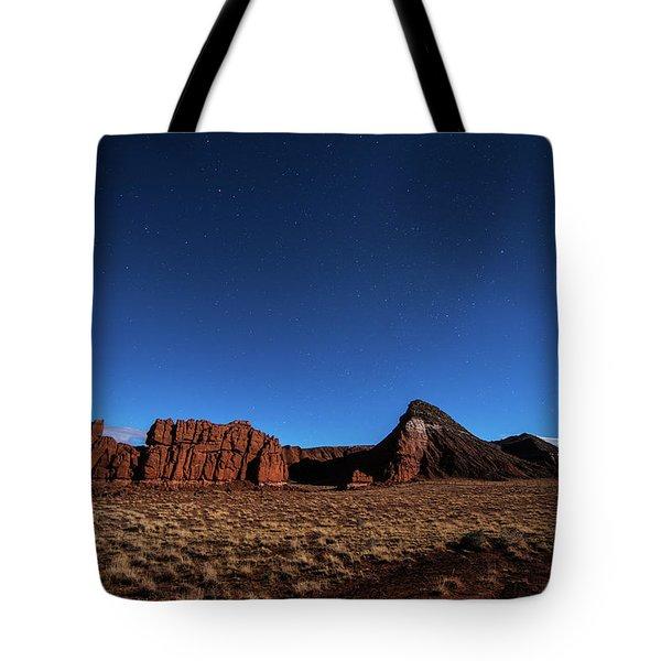 Arizona Landscape At Night Tote Bag