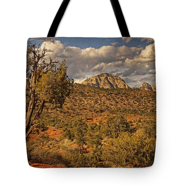 Arizona Landscape Text Tote Bag