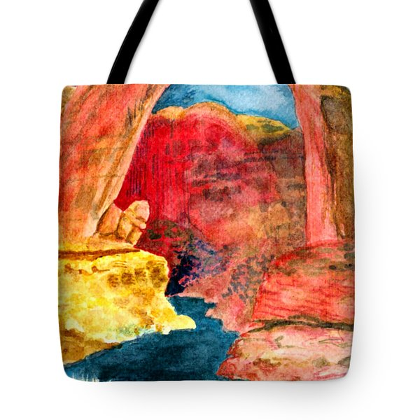 Tote Bag featuring the painting Arizona Rainbow by Eric Samuelson