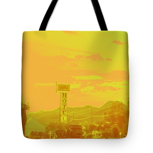 Tote Bag featuring the photograph Arizona Road I by Carolina Liechtenstein