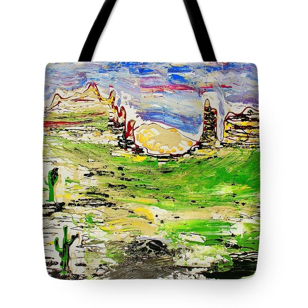 Tote Bag featuring the painting Arizona Skies by J R Seymour