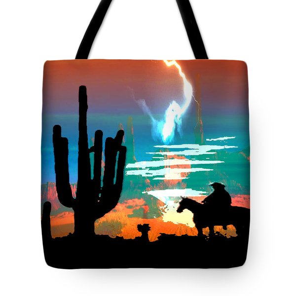 Tote Bag featuring the photograph Arizona Skies by Ken Walker
