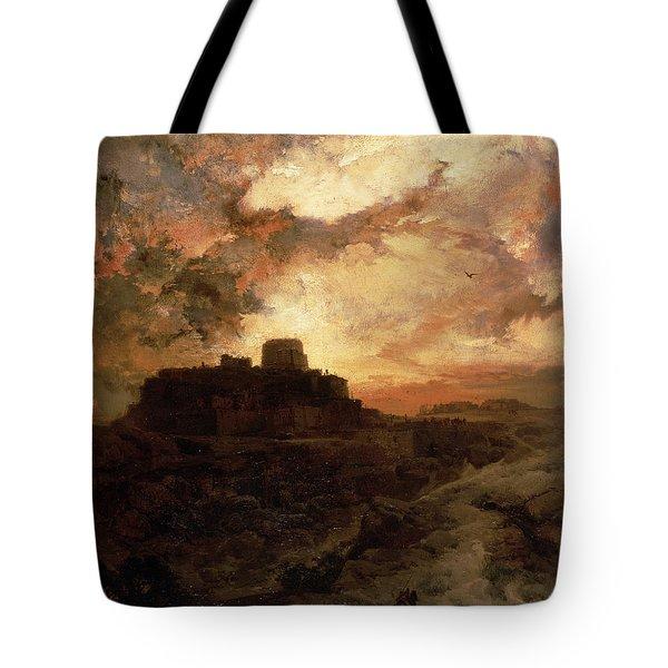 Arizona Sunset Tote Bag by Thomas Moran