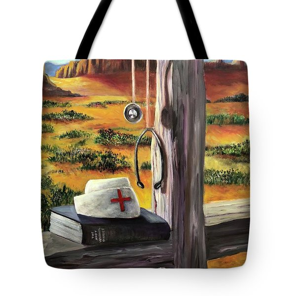 Arizona The Nurse And Hope Tote Bag by Randy Burns