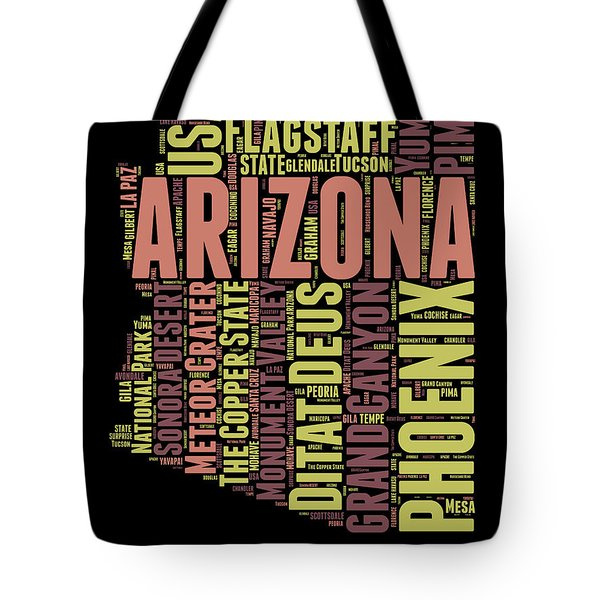 Arizona Word Cloud Map 1 Tote Bag