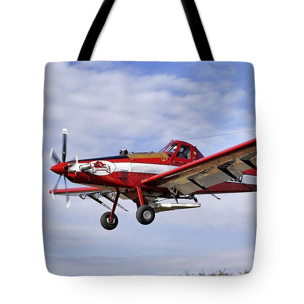 Arkansas Razorbacks Crop Duster Tote Bag