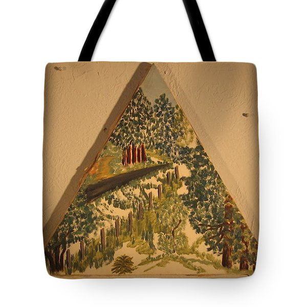 Tote Bag featuring the painting Arkansas Road by Erika Chamberlin