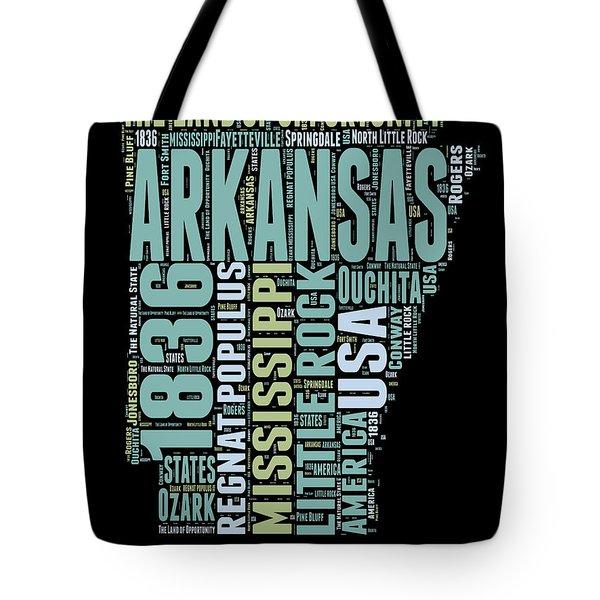 Arkansas Word Cloud 1 Tote Bag