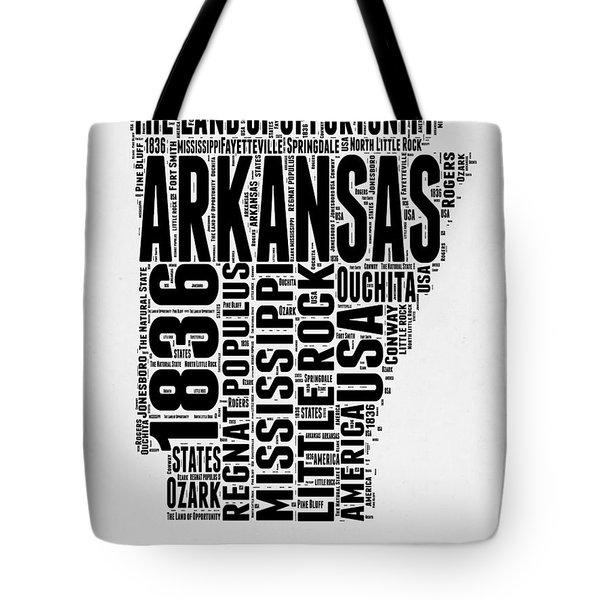 Arkansas Word Cloud 2 Tote Bag